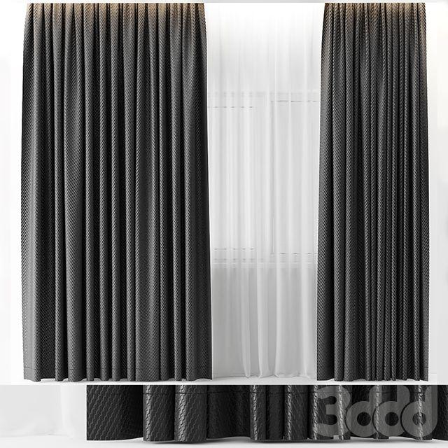 3d модели: Шторы - rubber curtains