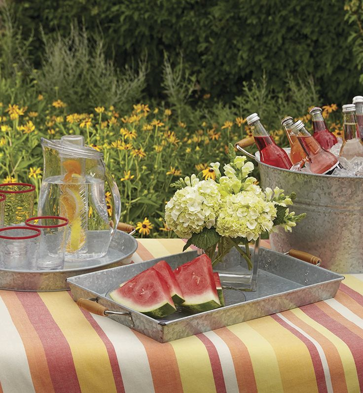 Galvanized Metal Serve Ware Is Ripe For Summer Amp Outdoor