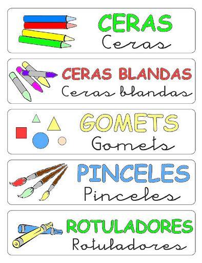 Rótulos para ordenar el aula 2