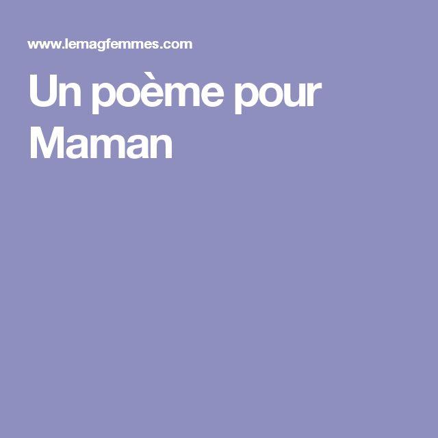 Un poème pour Maman