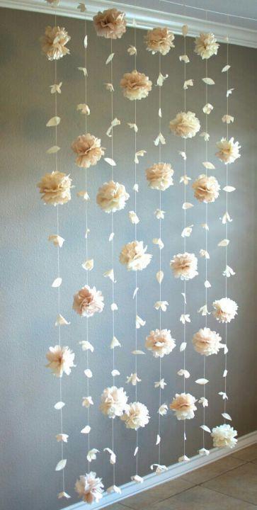 Floral backdrop Flower petal wedding backdrop by DyasGallery
