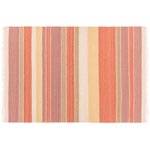 Maida Rug Burnt Orange/Mauve Area Rugs ($789) ❤ liked on Polyvore featuring home, rugs, mauve rug, hand loomed rug, hand-loomed rug, striped rug and burnt orange area rug