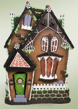 """Byers Choice Accessory - """"Cobweb Cottage Haunted Gingerbread House"""""""