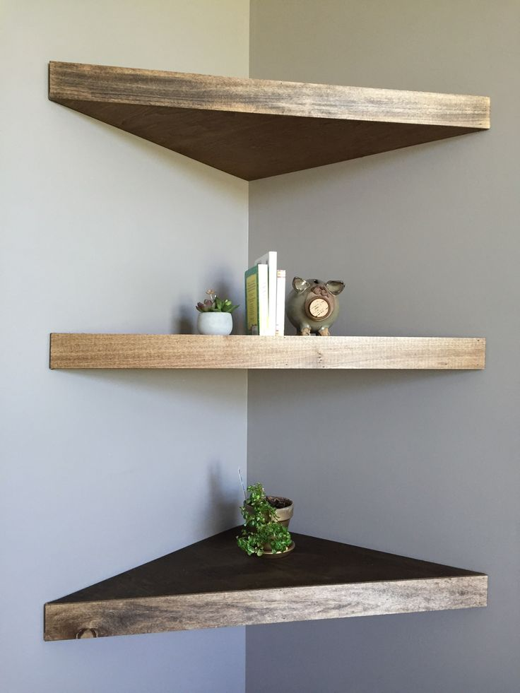 25 best ideas about floating corner shelves on pinterest for Easy diy shelves