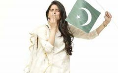 Cute Girl with Pakistani Flag Rare Dp Pic 2017