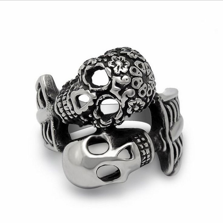 Double Faces Stainless Steel Skull Ring //Price: $13.79 & FREE Shipping //     #skull #skullinspiration #skullobsession #skulls