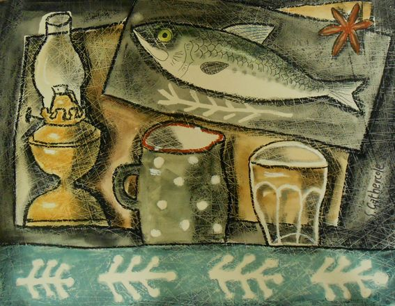 """French Jug and Fish"": This painting is available from www.artwales.com"