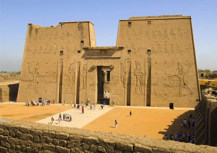The Temple of Horus in Edfu is the second largest temple in Egypt after Karnak and one of the best preserved. It is dedicated to Horus, the falcon-headed god. #monogramsvacation