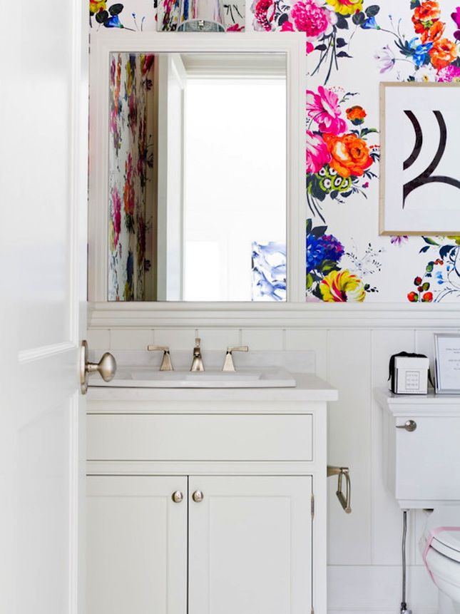 18 Gorgeous Ways to Use Wallpaper in Your Bathroom via Brit   Co. 1000  images about   for my future home   on Pinterest   Urban