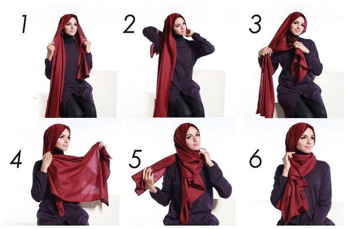 Oltre 25 fantastiche idee su Tutorial hijab su Pinterest ...