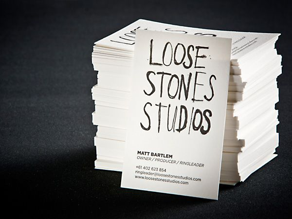 23 best letterpress business cards images on pinterest brand the hungry workshop loose stones business cards reheart Image collections