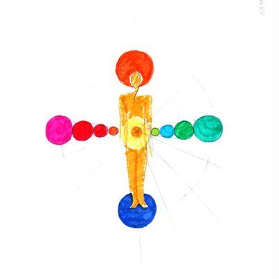 Símbolo de equilibrio necesario para armonizarse: chakras y acupuntura. Una imagen que se hace certeza. Desde los pies, la tierra, a la cabeza, el cielo. #mandala #meditacion #busqueda