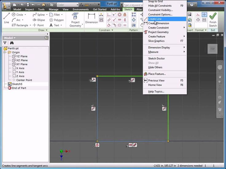 Part 2 - Sketching in Autodesk Inventor 2011
