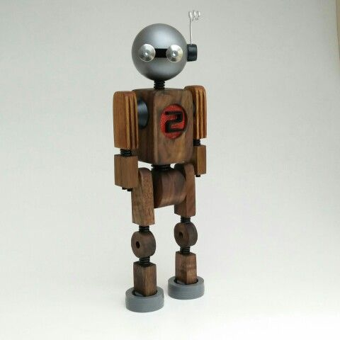 Handmade woodbot red 2