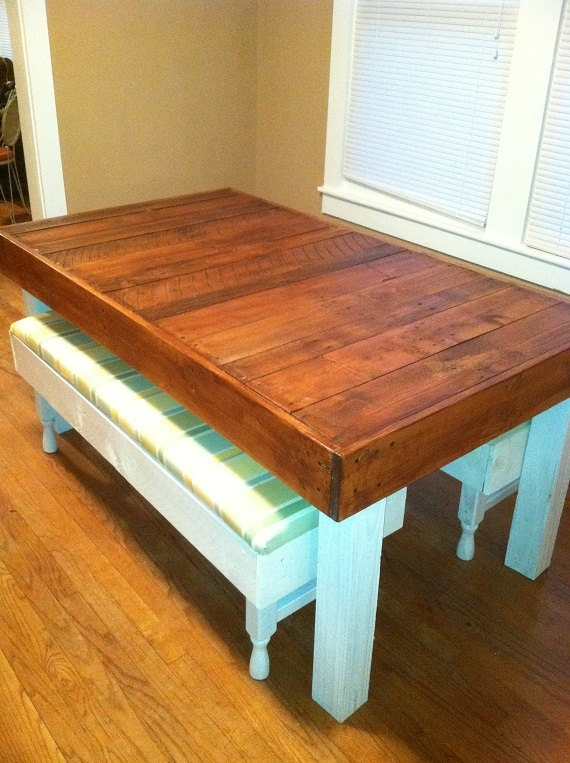 Reclaimed Pallet Wood Dining Table Upcycled By Lapalletcreations 31000