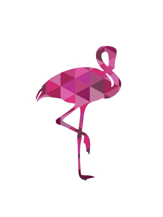 Flamingo Print Flamingo Wall Art Fuchsia door MelindaWoodDesigns