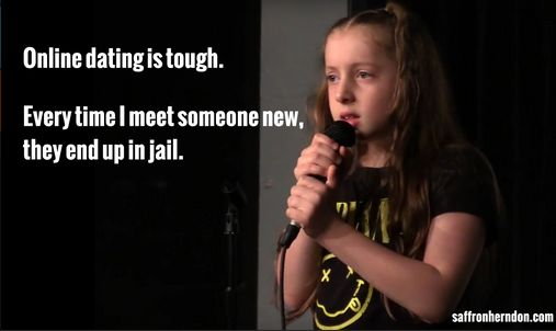 That's pretty impressive for a 10-year-old, but what makes Saffron really stand out is her sense of humor, which is a little twisted and well beyond her years. | This 10-Year-Old Comedian's Act Is Hilariously Inappropriate