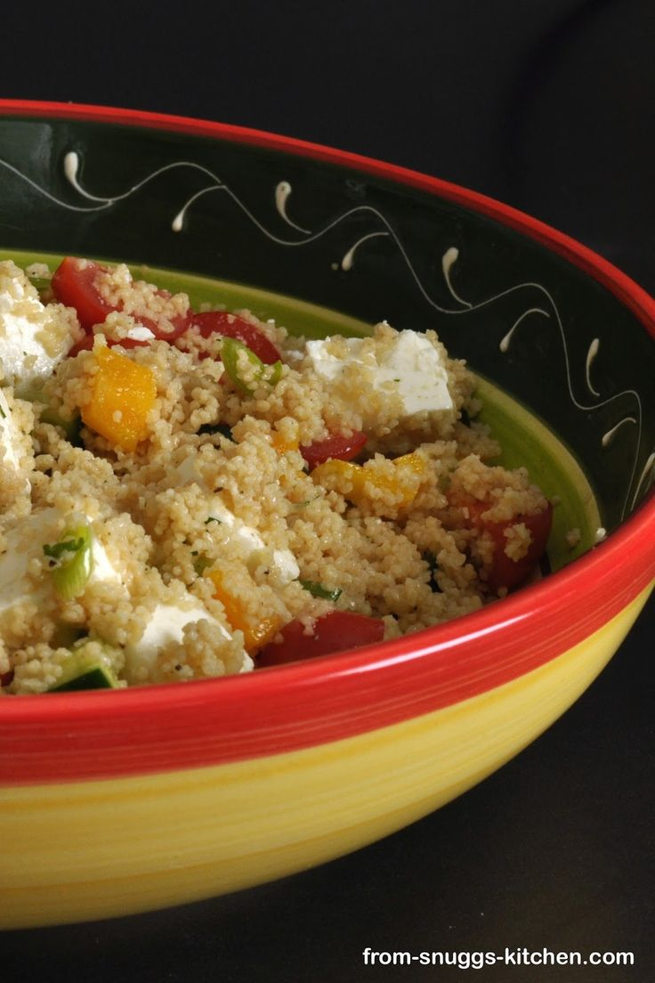 couscous salad with feta / couscous salat mit feta