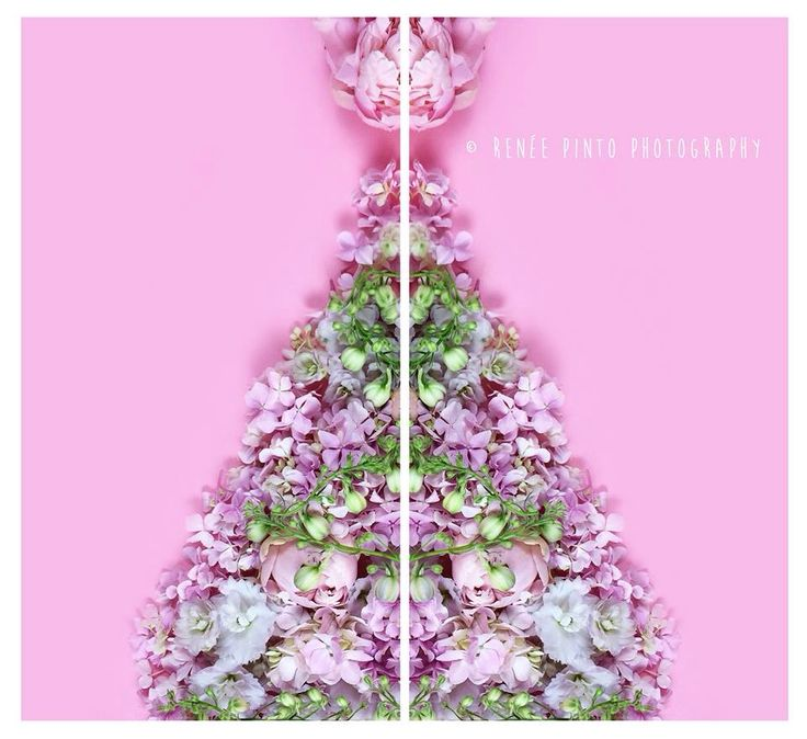 My Christmas tree made from flowers x
