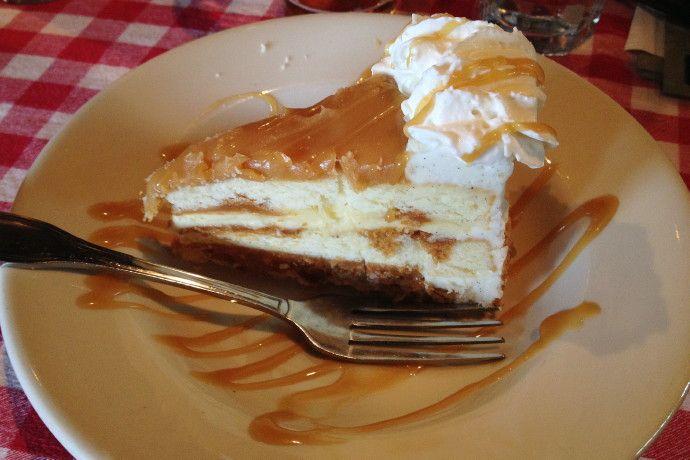 Salted caramel cake from Land Ho!, Orleans, MA (from http://hiddenboston.com/randomphotos/land-ho-salted-caramel.html) #Orleans #CapeCod #cake