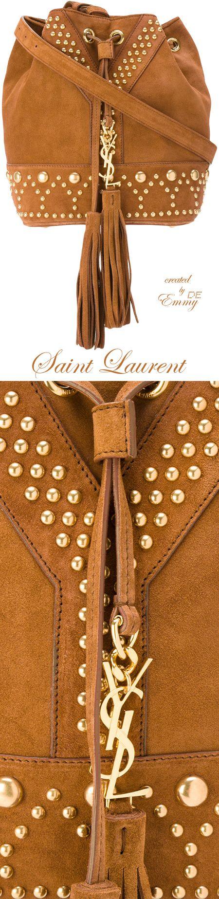Emmy DE * Saint Laurent studded bag
