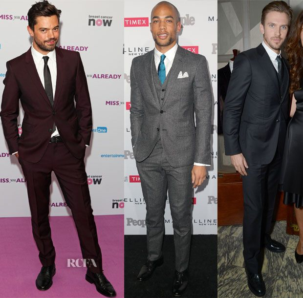 Dominic Cooper In Burberry Tailoring. Kendrick Sampson In Reiss London. Dan Stevens In Giorgio Armani.