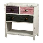 "$160 & 14"" deep. (That pink drawer would have to be repainted yellow or red tho.) Found it at Wayfair - Hampton Accent Chest"