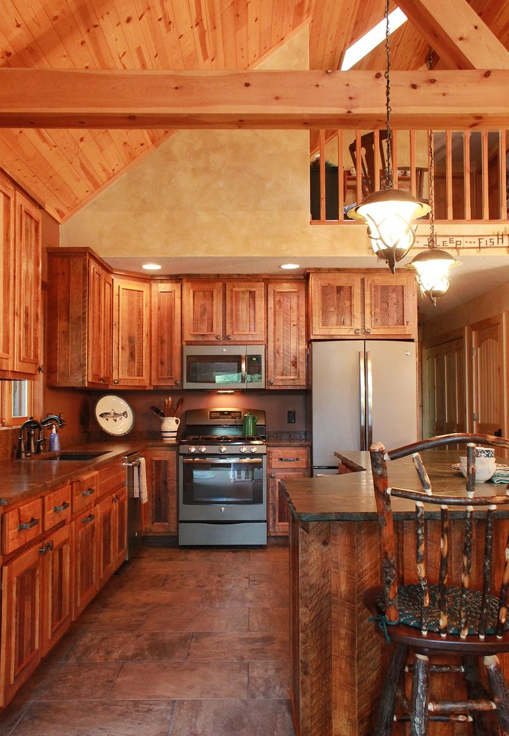 Best This Rustic Kitchen Is From A Wisconsin Log Home These 640 x 480