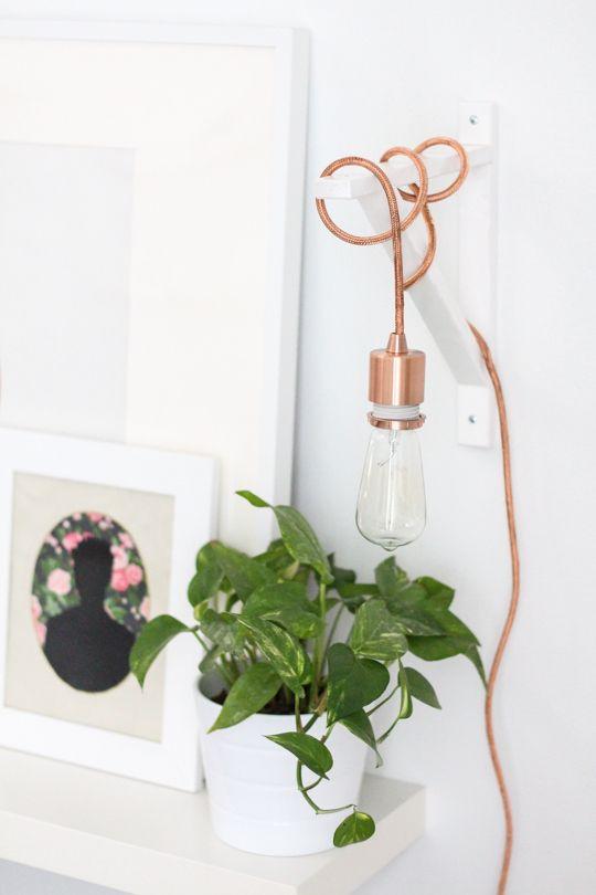 ... Y UN POCO DE DISEÑO: DIY: Una lámpara con una escuadra