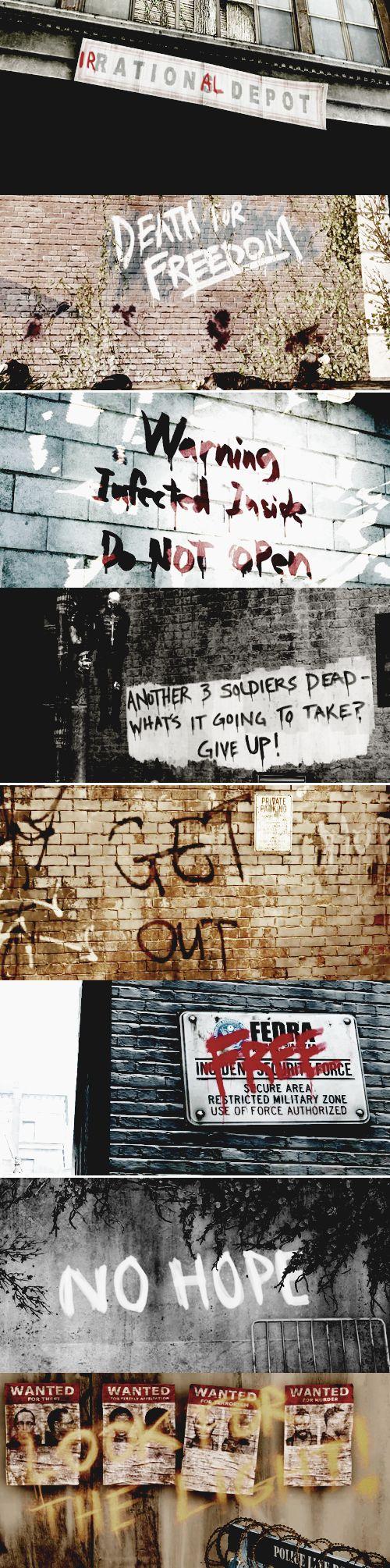 the last of us + graffiti