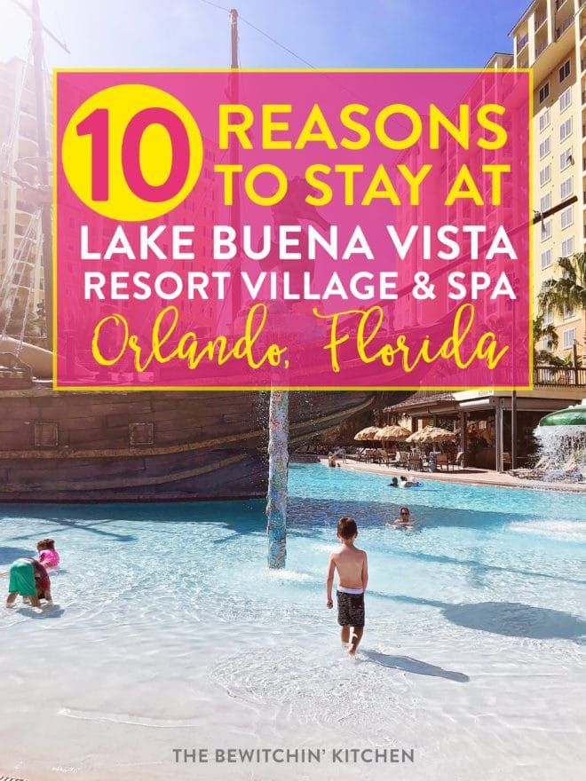 10 reasons to stay at Lake Buena Vista Resort Village and Spa. Visiting Orlando Florida soon for a Walt Disney World vacation? Save money and stay close to Disneyworld, Universal Studios, theme parks, and shopping on your family vacation by staying at this luxury family resort. #ad #lakebuenavista #orlando #orlandoflorida #florida #familytravel #familyvacation #disneyworld #waltdisneyworld #wheretostayatdisneyworld #universalstudios #universalorlando #legoland #beachvacation #seaworld