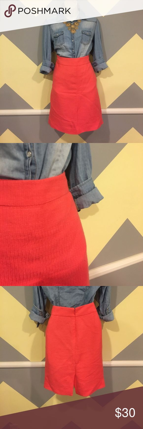 Coral Pencil Skirt - J. Crew Smoke Free. Offers always welcome. Questions answered within 24 hours. 💕 J. Crew Skirts Pencil
