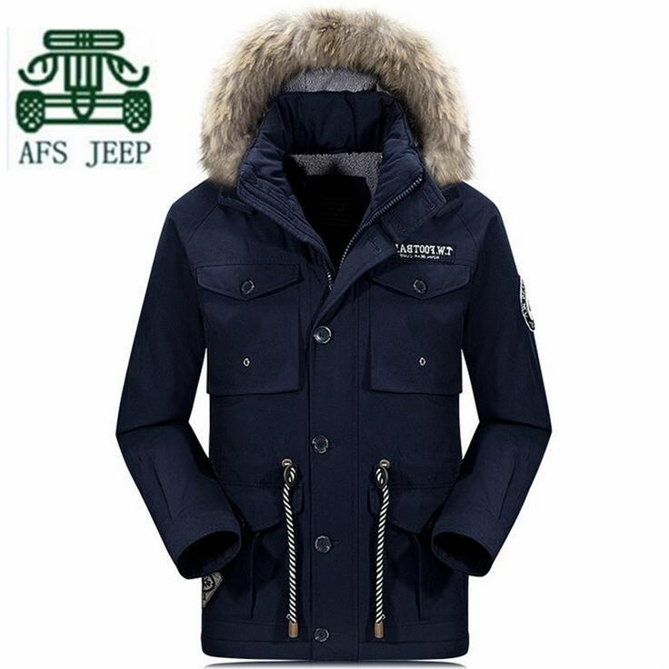 >> Click to Buy << AFS JEEP Green/Blue Mans Fur Collar Detachable Long Coat,Original Brand Man's Pockets Thickness Cashmere Wool Winter Warmly Coat #Affiliate