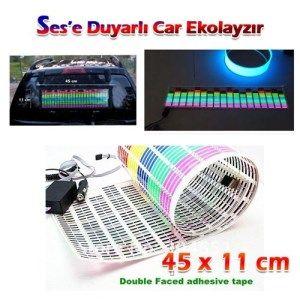 Car Music Rhythm Lamp - Müziğe Sese Duyarlı Car Equalizer Şerit İle Aracınızı Görsel Şölene Çevirin(45X11cm) Şimdi Sadece 99.00TL.Üstelik Kredi Kartına Taksit/Kapıda Nakit Ödeme ve Havale-EFT Ödeme Seçenekleri İle Atın Sepete