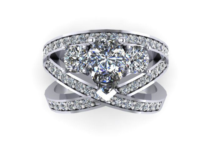 This intertwining criss cross ring is a real eye catcher it gives the