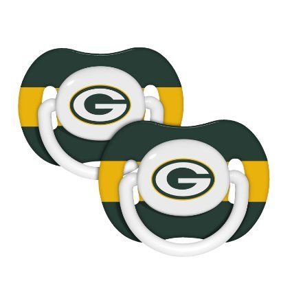 Amazon.com: Green Bay Packers Baby Pacifiers - 2 Pack: Baby  Matt would love this lol