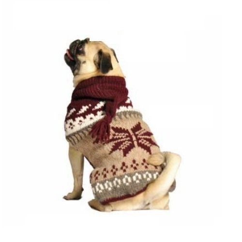 Chilly Dog Rustic Snow Hoodie Dog Sweater, X-Large