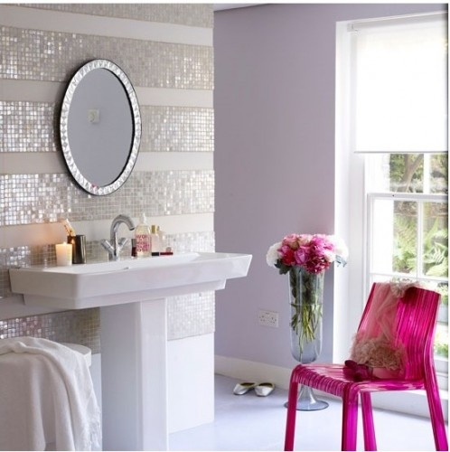 Sparkle Stripe As An Accent Wall In The Showroom Make Large Framed Board So Can Be Movable Add Tile Stripes
