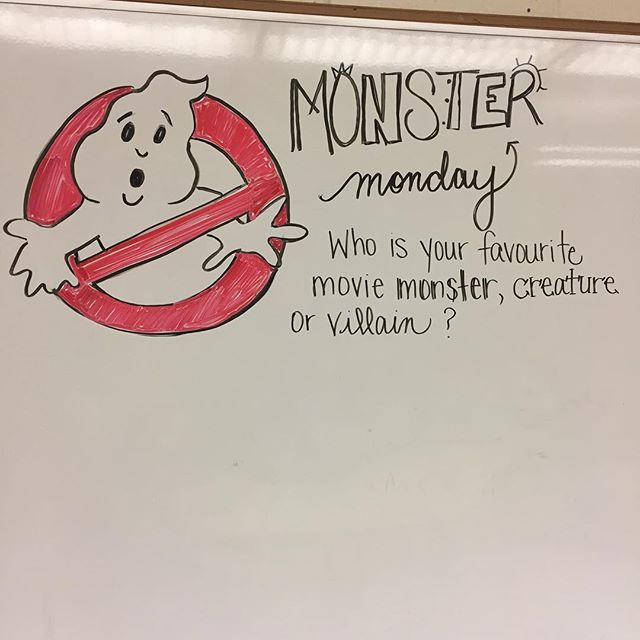 Monster Monday--white board messages