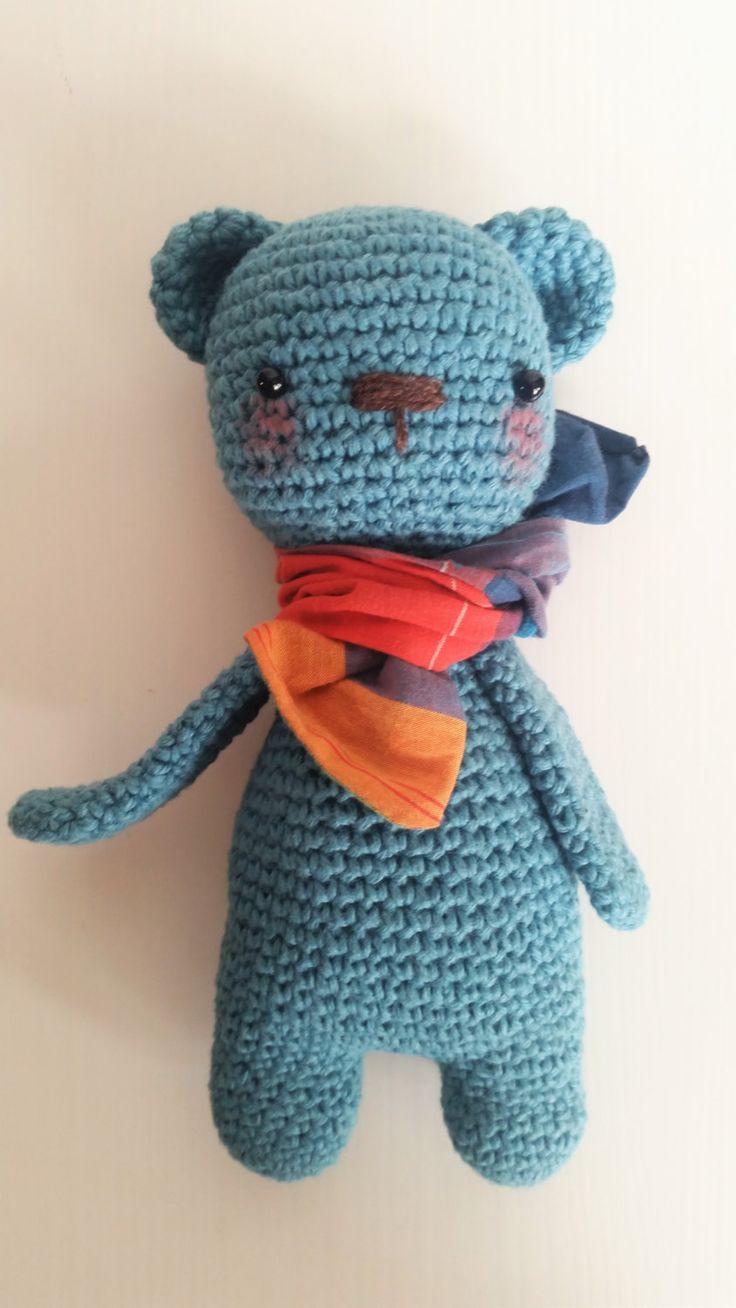 Amigurumi, gehäkelter Bär, Golden Bear, Häkeltier, Häkeln, Doll von AmandaBumba auf Etsy