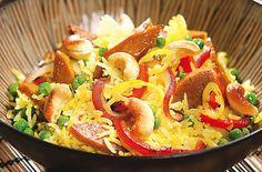 Nasi Goreng mit Cashewkernen - Schrot und Korn