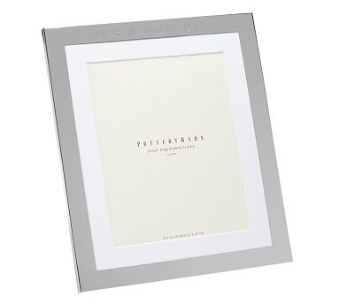"Silver-Plated Engravable Picture Frame, 8 x 10"" with optional Vertical Personalization"