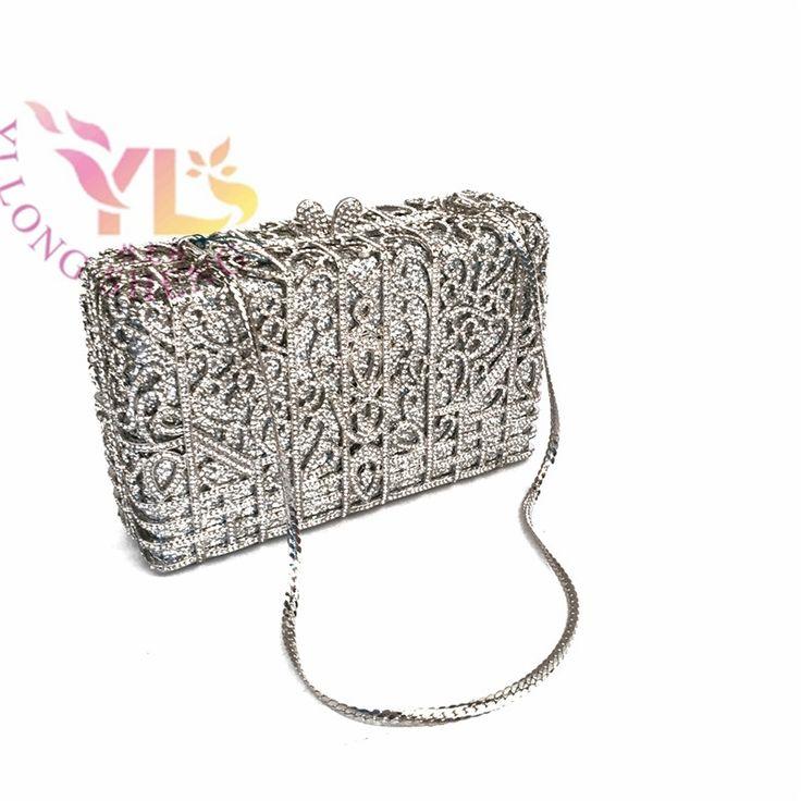 66.99$  Buy here  - YILONGSHENG Women Stylish And Simple Silver Clutch Bag