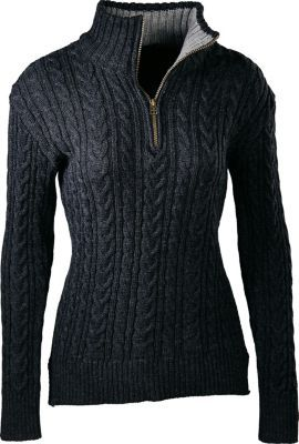Luxurious 100% merino wool has been woven into waves of ultrasoft, cable-knit texture to add everyday layering appeal to this stylish 1/2-zip sweater. Finely crafted in England, and boasting an eye-catching contrast collar, it's perfect for everything from running errands around town, to cozying up beside a campfire way back in the woods.