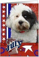 July 4th Firecracker - Tibetan Terrier Card by Greeting Card Universe. $3.00. 5 x 7 inch premium quality folded paper greeting card. Fourth of July cards & photo Fourth of July cards from Greeting Card Universe will bring a smile to your loved ones' face. Make this Fourth of July a memorable one by sending a custom card. Turn to Greeting Card Universe for all your Fourth of July card needs. This paper card includes the following themes: Tibetan Terrier, terriers, and dog ...