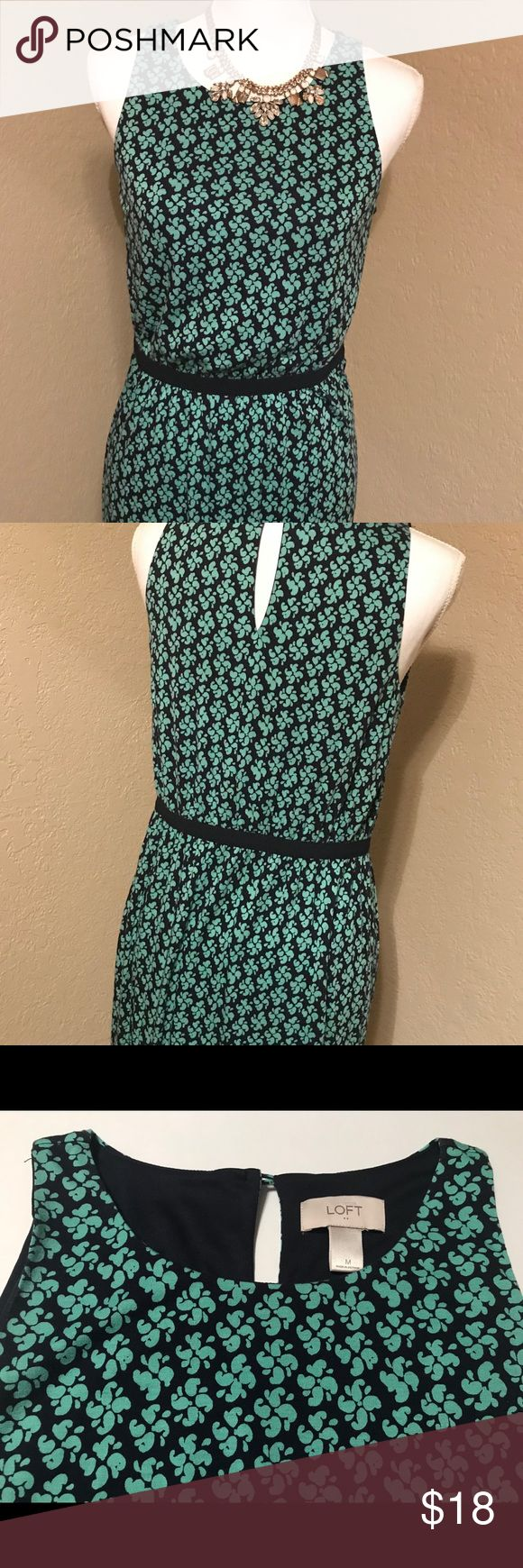 Ann Taylor Loft Career Dress Medium Navy / Mint This is a size medium Ann Taylor Loft Dress in a navy blue and mint. It is gently preowned and in great condition. No holes, rips, or stains.   Necklace is not included. LOFT Dresses