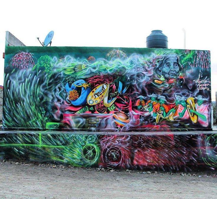 "tschelovek_graffiti: ""#okiaaokia нарисовал в Оахака-де-Хуарес (Мексика). Photo by Derrumbe Colectivo. #streetartmexico #streetmuralmx #artecallejero #streetartmx #graffitimexico #граффити_tschelovek #streetart #urbanart #graffiti #mural #стритарт #граффити #wallart #graffitiart #artederua #arteurbana #graffiticulture #graffitiwall #streetart_daily #streetarteverywhere"""