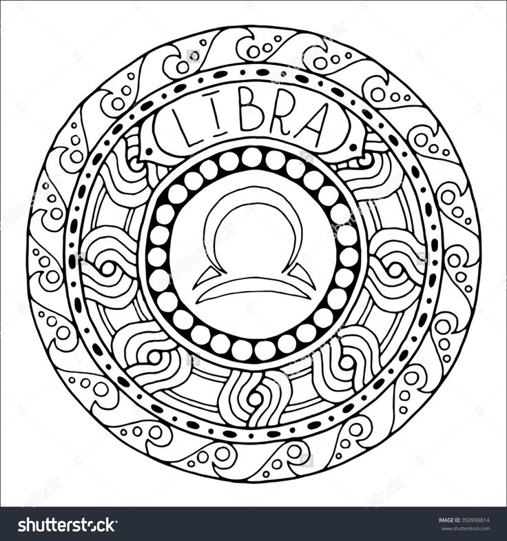 and constellation in mandala with ethnic pattern set of black and white icon horoscope and zodiacal template can be used for magazine coloring book