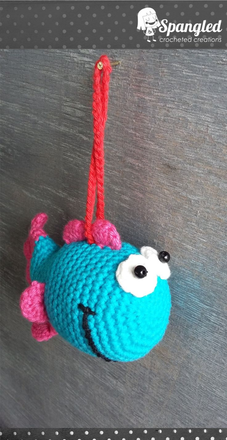 Fish Hanging Toy by SpangledCrochet on Etsy