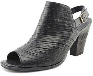Paul Green Waverly Women Open-toe Leather Black Slingback Heel.